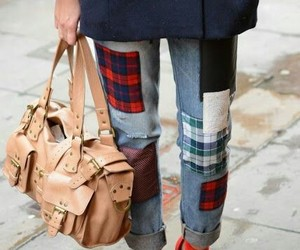 bag, leather, and urban image