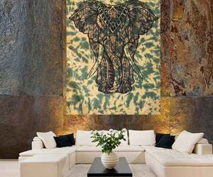 indian, elephant tapestry, and home decor image