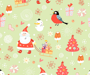 christmas, santa, and wallpaper image
