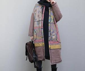 etsy, pink coat, and large size coat image