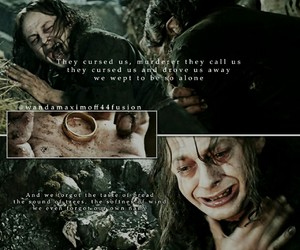 lord of the rings, LOTR, and gollum image