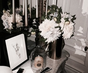 interior, aesthetic, and flowers image