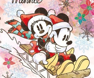 mickey mouse, minnie mouse, and disney christmas image