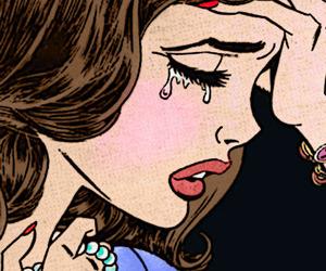 cry, sad, and pop art image