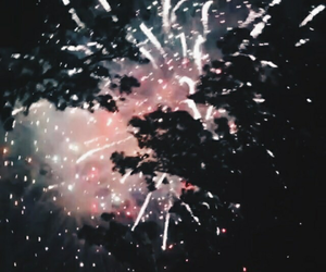 fireworks and dark image