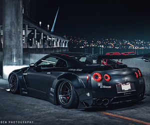 nissan, liberty walk, and gt r image