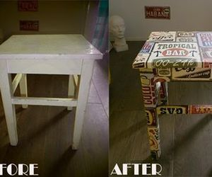 before and after, chair, and diy image