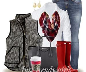 hunter boots and jcrew vest image