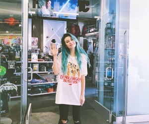 blue hair, youtube, and jessie paege image