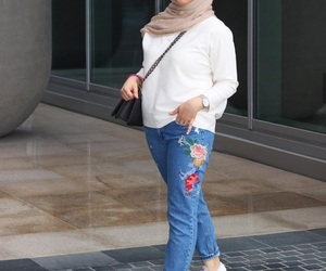 boyfriend jeans and hijab image
