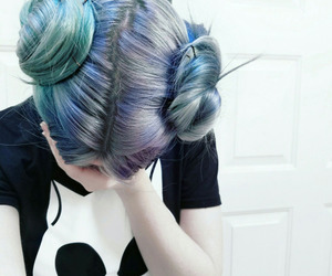 hair, blue, and alternative image