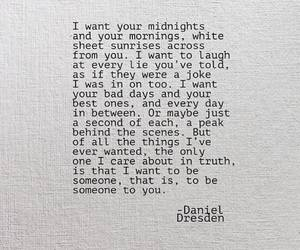 someone to you, daniel dresden, and want you at midnight image
