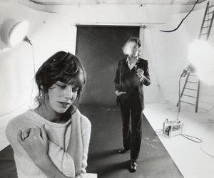 serge gainsbourg, jane birkin, and black and white image