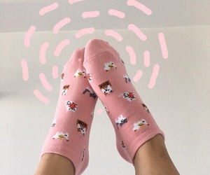 socks, pink, and aesthetic image