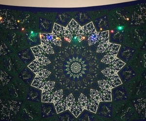 blue, lights, and tapestry image