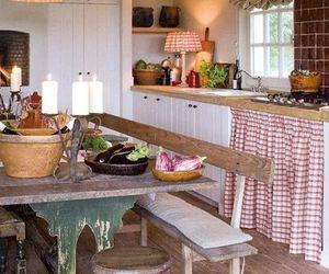 kitchen, home decor, and vintage farmhouse image