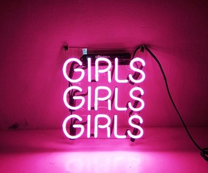 girl, female, and neon image
