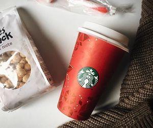 christmas, food, and starbucks image