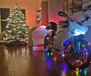 bike, christmas, and ducati image