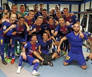 Barcelona, messi, and football image