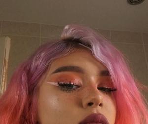hair, makeup, and pink image