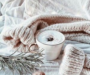 bed, winter, and christmas tree image