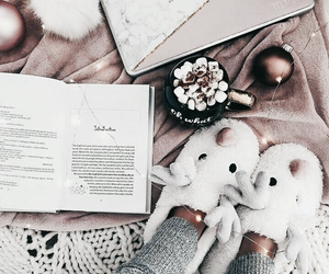 book, winter, and christmas image