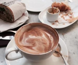 breakfast, chocolate, and cocoa image