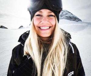 girl, snowboarder, and snowboarding image