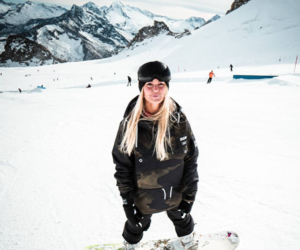 dope, girl, and snowboarder image
