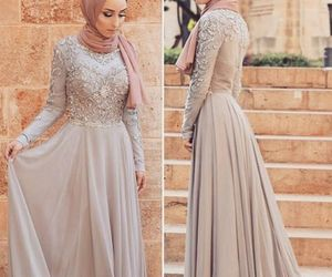 dress, off white, and fashion image