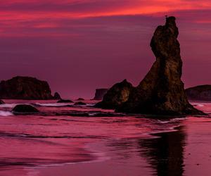 beach, beautiful, and sunset image