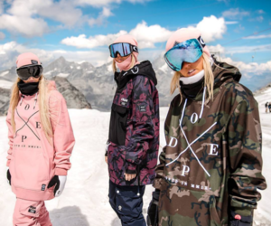 dope, girls, and snow image
