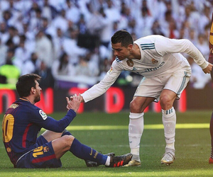 Barca, cristiano, and iconic image