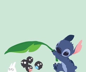 wallpaper, cute, and stitch image