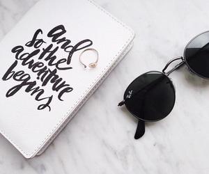 plane, sunglasses, and travel image