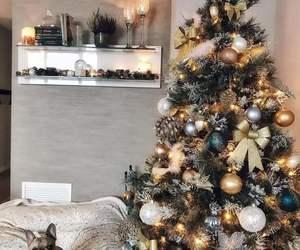 christmas, dog, and home image