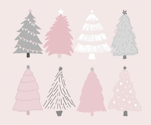 christmas, wallpaper, and pink image
