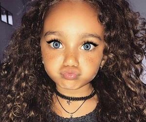 girl, eyes, and baby image