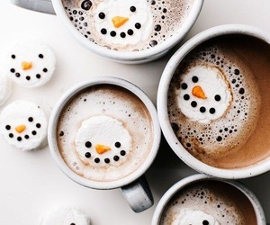 chocolate, snow, and snowman image