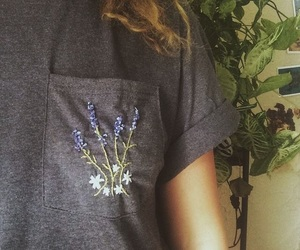 flowers, shirt, and embroidery image