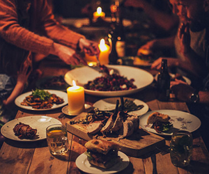 food, dinner, and candles image