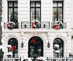 christmas, snow, and architecture image