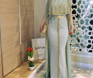 arabic, dress, and green image
