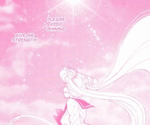 manga, pink, and sailor moon image