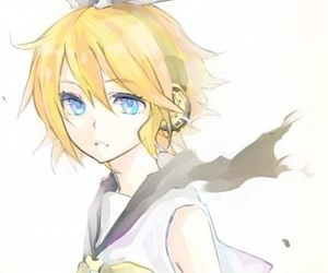 blonde girl, rin, and len image