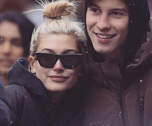 hailey baldwin, shawn mendes, and couple image