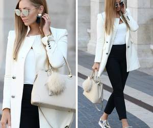 fashion, outfit, and blazer image