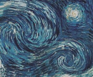art, blue, and van gogh image