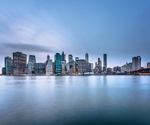 city, new york city, and ocean image